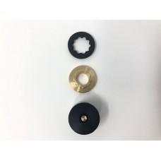 Guglielmo -  Kit Ruby Brass - SVT Kit comprendente basetta grande e nottolino Ruby